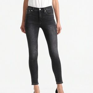 """J. Crew 9"""" high wise jeans in charcoal wash"""